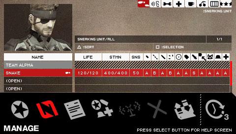 メタルギア ソリッド ポータブルオプス (PSP)