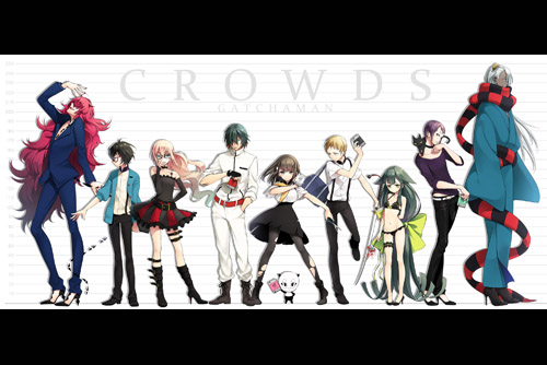 GATCHAMAN CROWDS / ガッチャマン クラウズ (全12話+特別編)