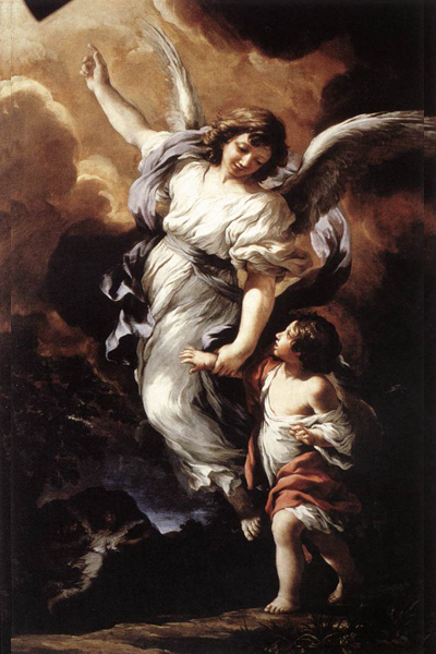 Guardian Angel by Pietro da Cortona, 1656