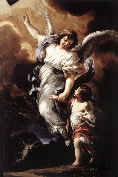 Guardian Angel by Pietro da Cortona, 1656