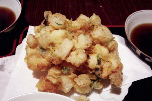 浜町・金田 / ボリュームたっぷりのかき揚げ定食