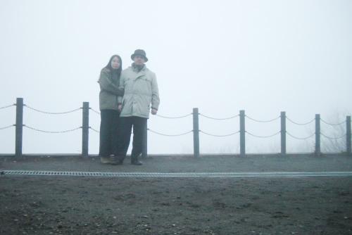 旧碓氷峠見晴台は霧の中