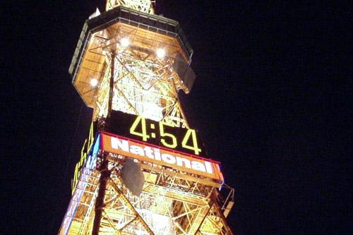 さっぽろテレビ塔とホワイトイルミネーション