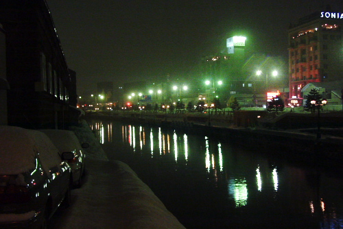 小樽運河の夜