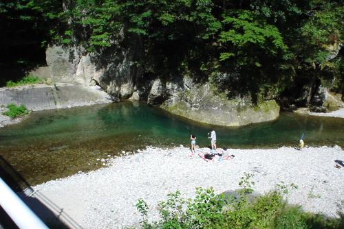 那珂川の河原 / 水遊びも楽しい