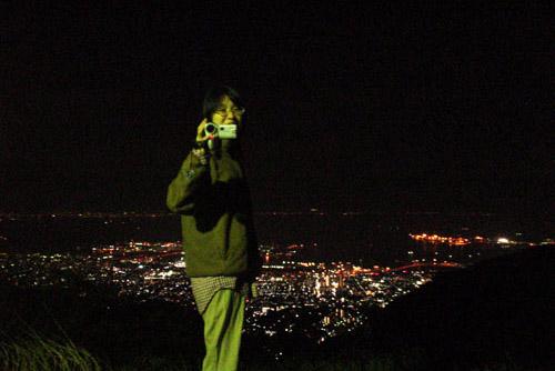 六甲山・鉢巻展望台 / 車を止める場所がない