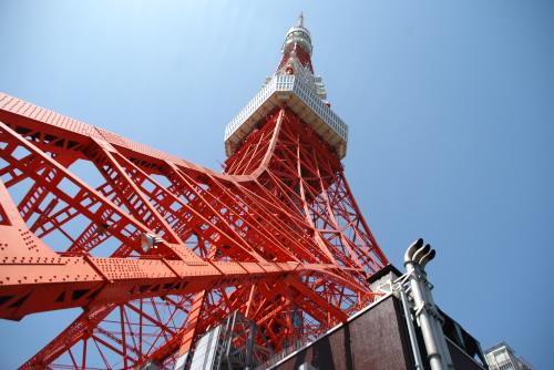 階段で登ろう、東京タワー