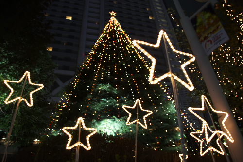 東京ドームシティ / 電飾された遊園地