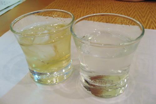 銀座熊本館の焼酎バー / 熊本焼酎を飲み比べ