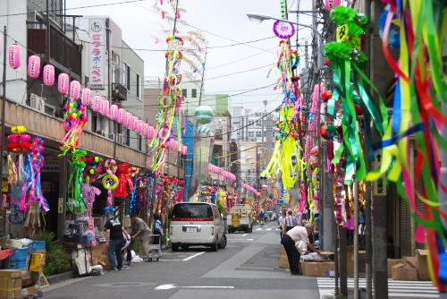 かっぱ橋 / 下町七夕まつりの朝