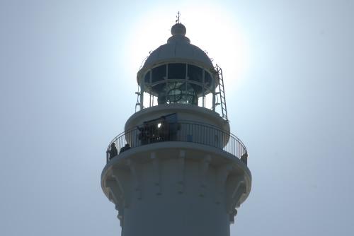 塩屋埼灯台 / 青い空に白い灯台