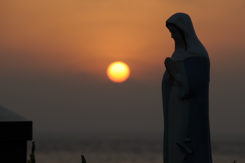 柏崎と淵ノ元カトリック墓碑群 / 遣唐使とキリシタンの夕暮れ