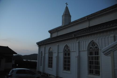 夜の水之浦教会