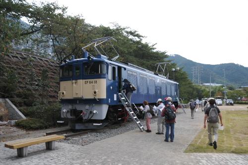 旧勝沼駅 / EF64-18車輌内部を拝見