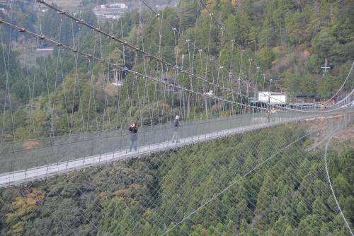谷瀬の吊り橋 / 父の代わりに渡った