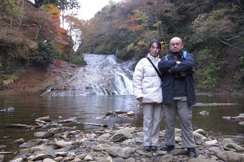 粟又の滝(養老の滝) / ゆるやかな傾斜を流れ落ちる滝