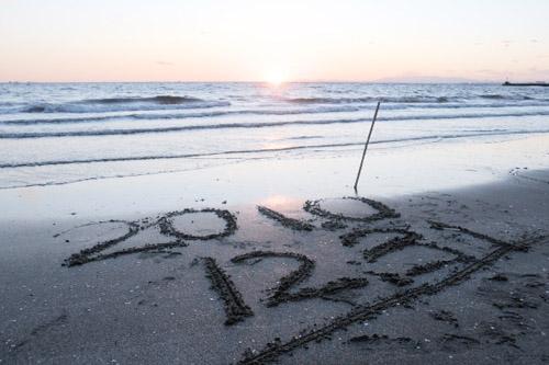幕張の浜 / 2010年最後の夕日