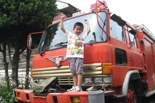 母と妹と甥っ子と見学 / 四街道市消防資料館