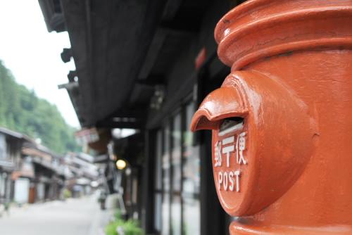 早朝の奈良井宿を歩く