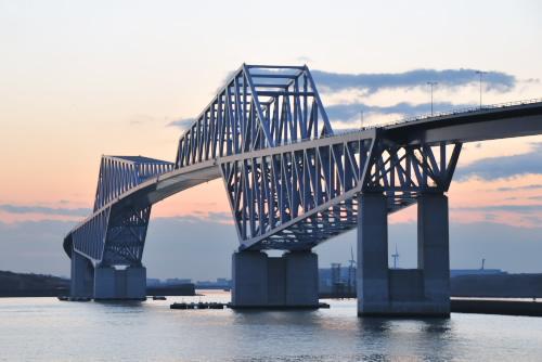 2011年最後の夕日 / 開通前の東京ゲートブリッジ