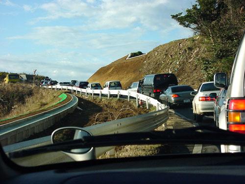 犬吠埼:大渋滞の帰り道