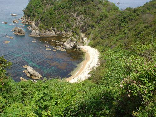 浦富海岸:入り江