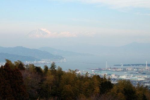 日本平:富士山が見えた