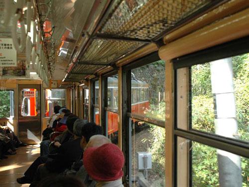 箱根登山鉄道:ものすごいカーブ