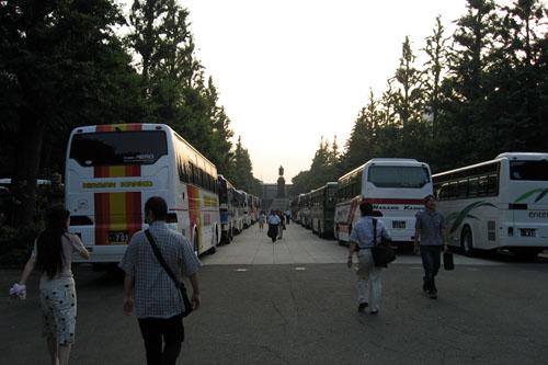バスが多かった