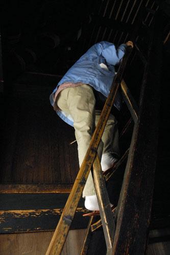 急すぎる階段(というかハシゴ)