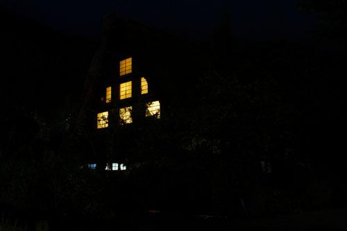 白川郷の夜