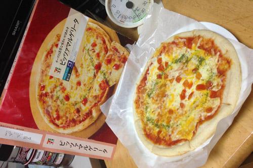 セブンプレミアムの冷凍ピザもうまかった