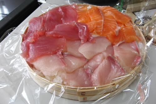 三種盛りの押し寿司