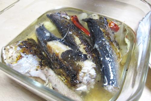 秋刀魚のコンフィは不発