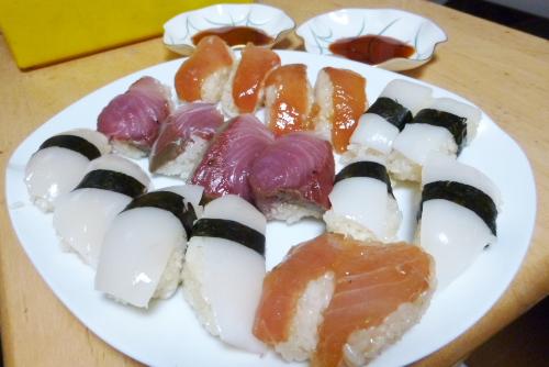 久々に寿司を握ってみたが