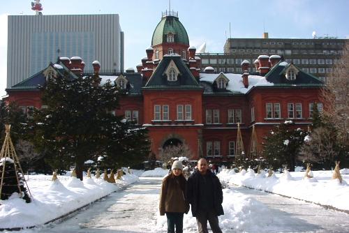札幌市内を歩く