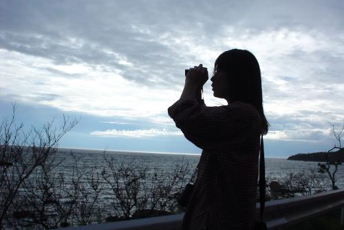 宍道湖の夕暮れ