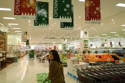 深夜のショッピングセンター
