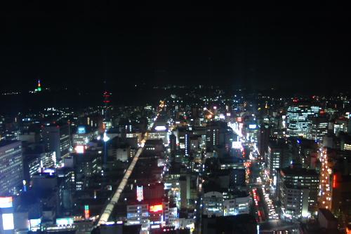 アエル31階 / 仙台市を一望する