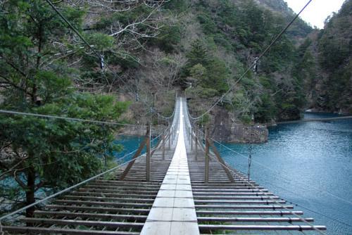 寸又峡、夢の吊り橋 / さすがに怖い