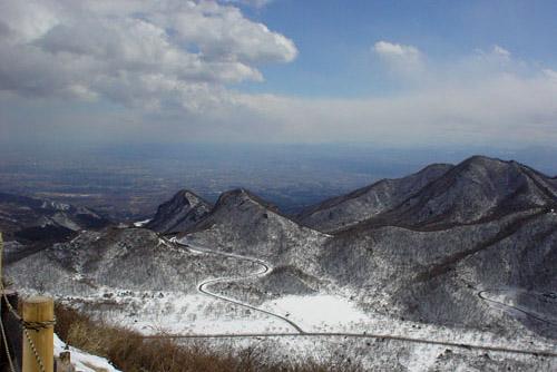 雪の榛名富士からの眺め
