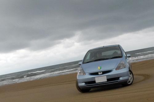 千里浜なぎさドライブウェイ / 浜辺を車で駆け抜けろ!
