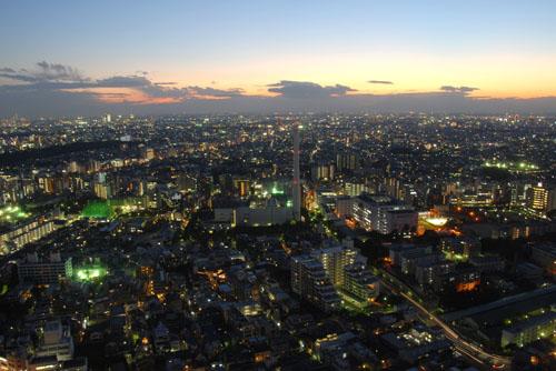 恵比寿ガーデンプレイスタワーの夜景