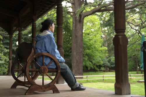雨の日の旧岩崎邸庭園