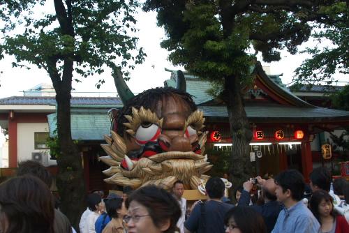 神田祭 の 神幸祭 の 附け祭 の 着輦祭