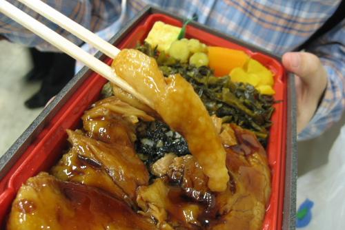 西武百貨店 大九州うまいものと技紀行 / 豚角煮弁当, 宮崎牛メンチカツ, あわびめしおにぎり