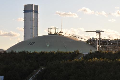 TEPCO新エネルギーパーク / 富津火力発電所の夕暮れ