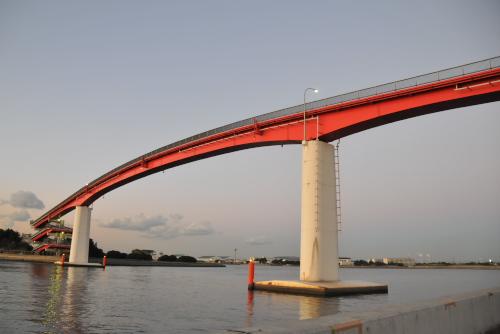 木更津・中の島大橋 / 日本で一番高い歩道橋