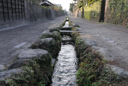 島原武家屋敷 / 水路に沿って残された江戸時代