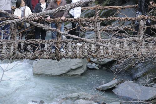 祖谷のかずら橋 / 観光地すぎて萎える